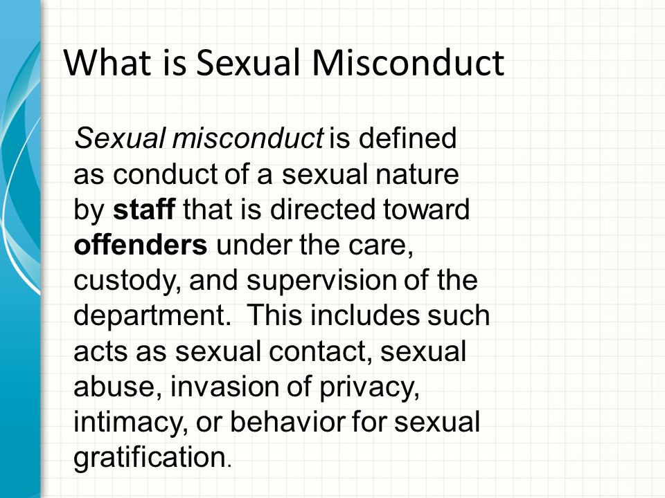 What is Sexual Misconduct