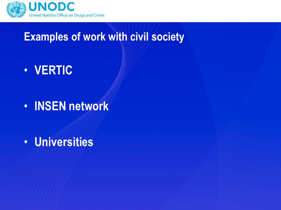 Examples of work with civil society