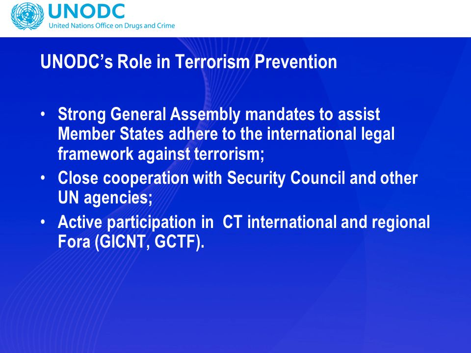UNODC's Role in Terrorism Prevention