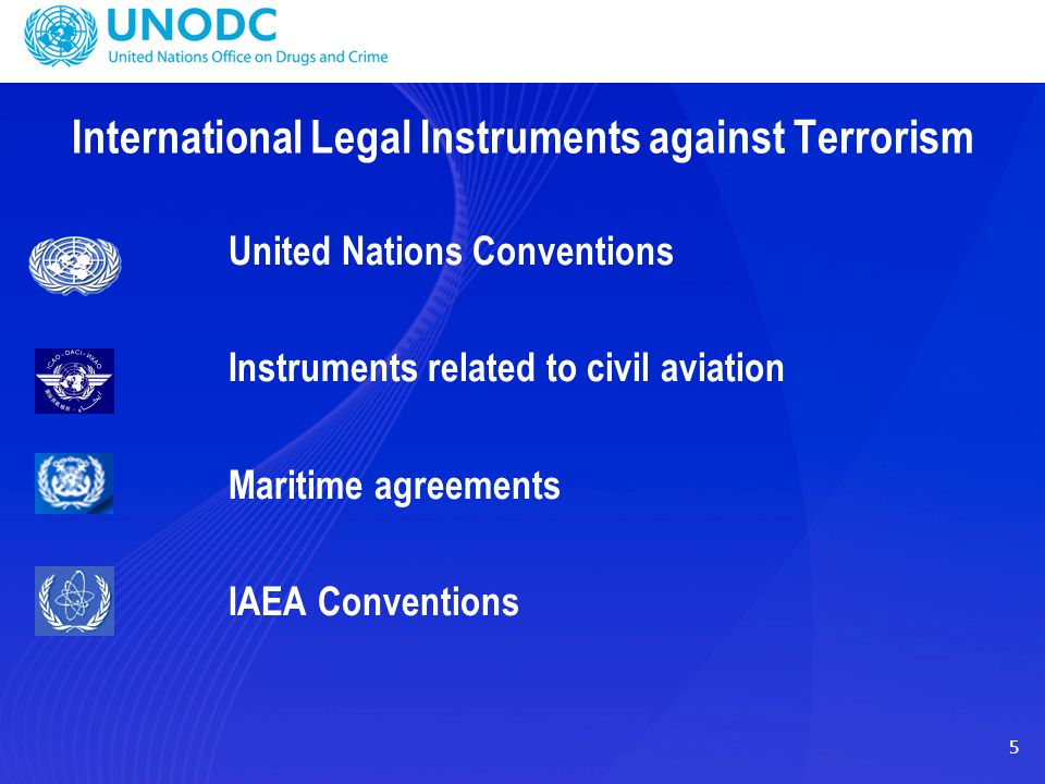 International Legal Instruments against Terrorism