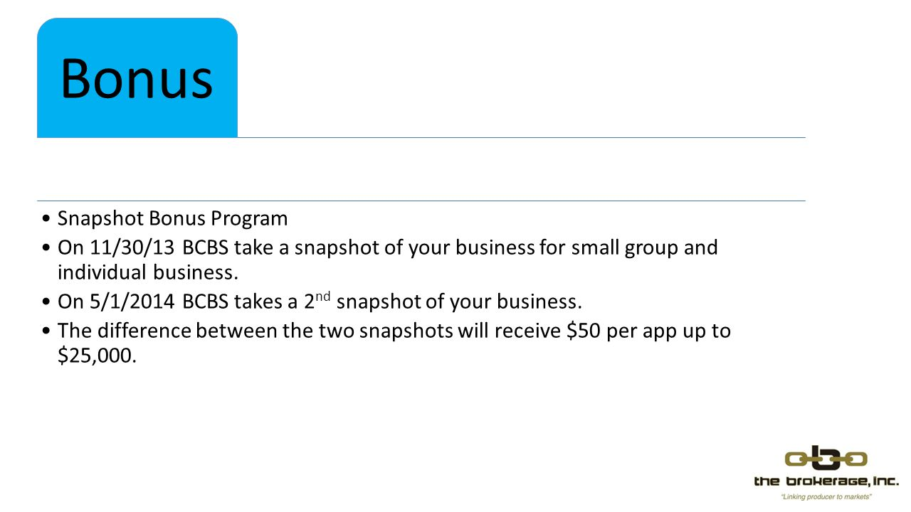 Snapshot Bonus Program