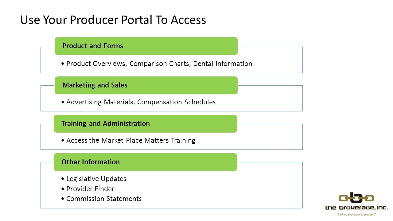 Use Your Producer Portal To Access