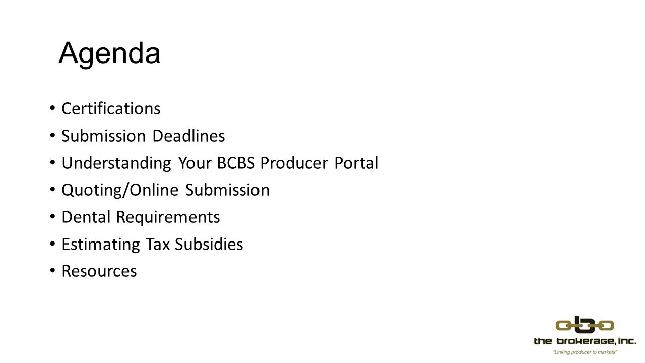 Agenda Certifications Submission Deadlines