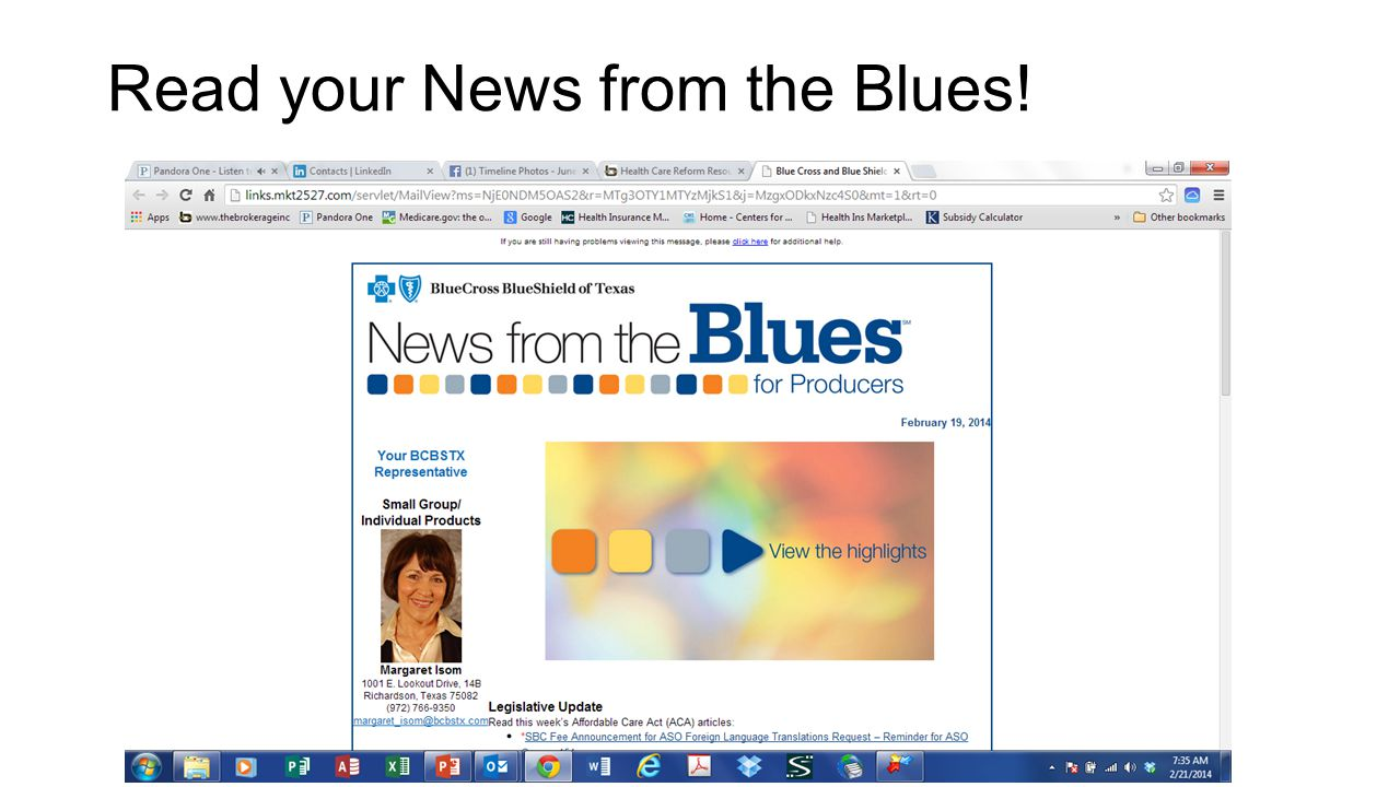 Read your News from the Blues!