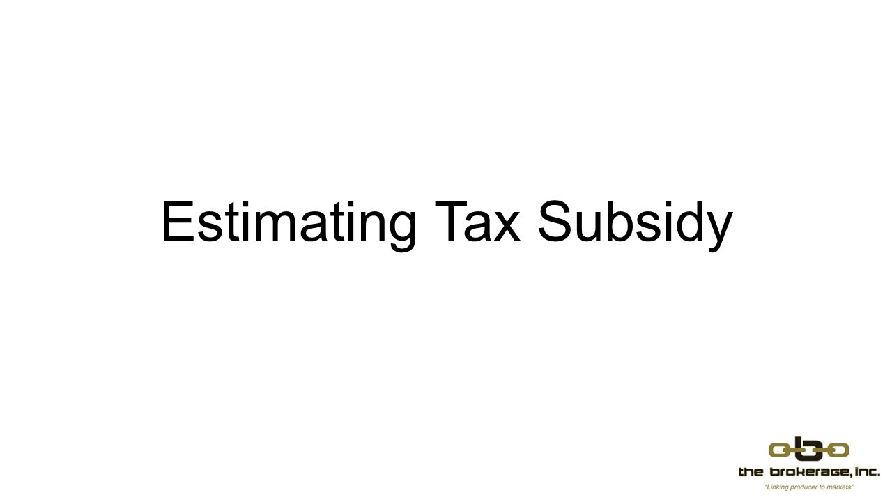 Estimating Tax Subsidy
