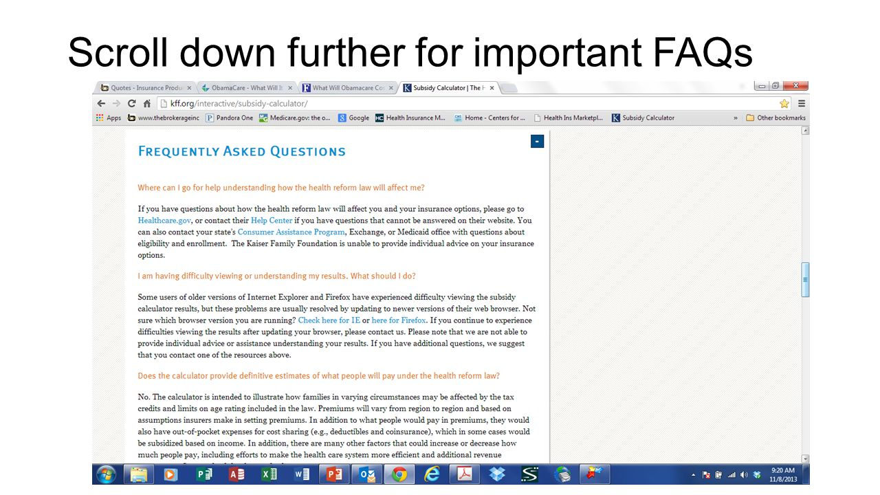 Scroll down further for important FAQs