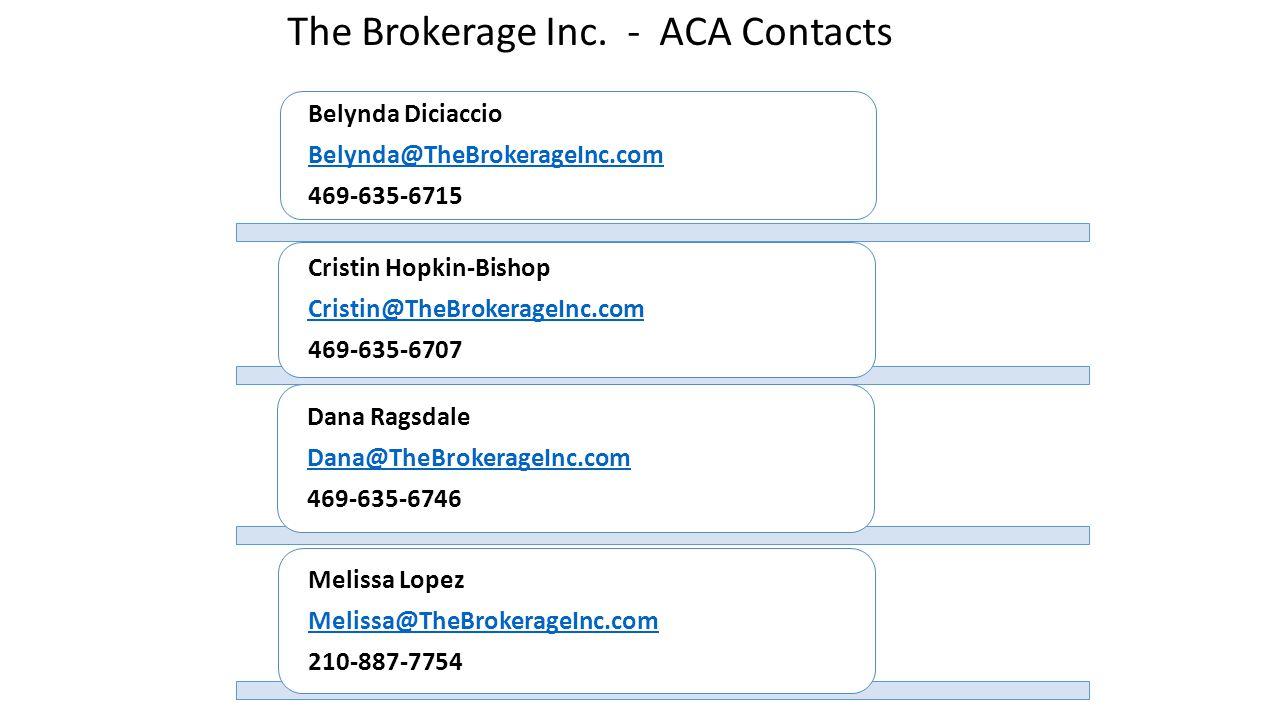 The Brokerage Inc. - ACA Contacts