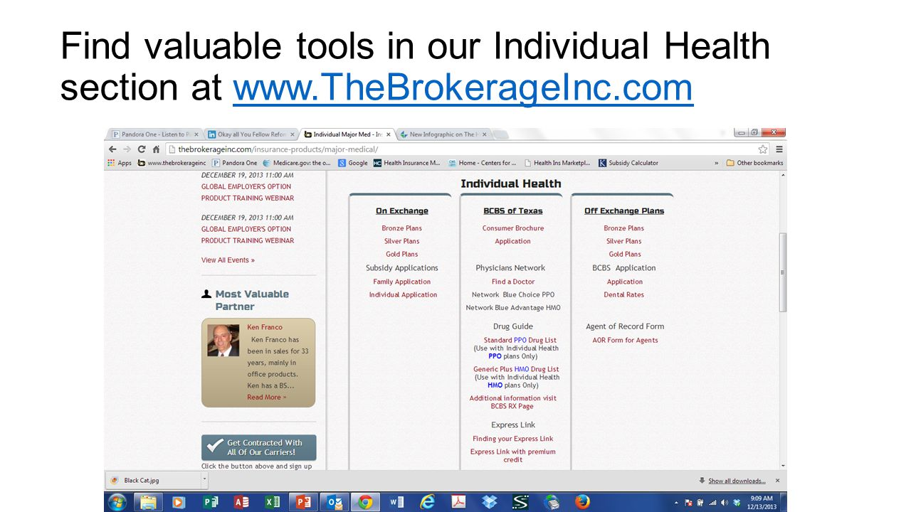 Find valuable tools in our Individual Health section at www