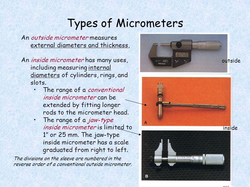 how to use and read an outside micrometer
