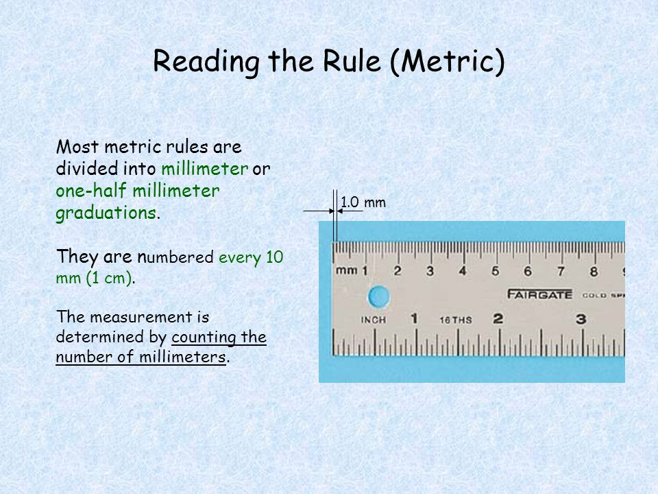 Reading the Rule (Metric)