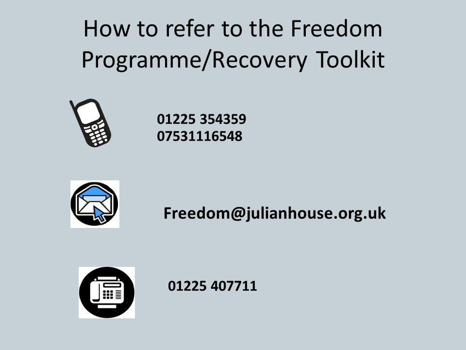How to refer to the Freedom Programme/Recovery Toolkit