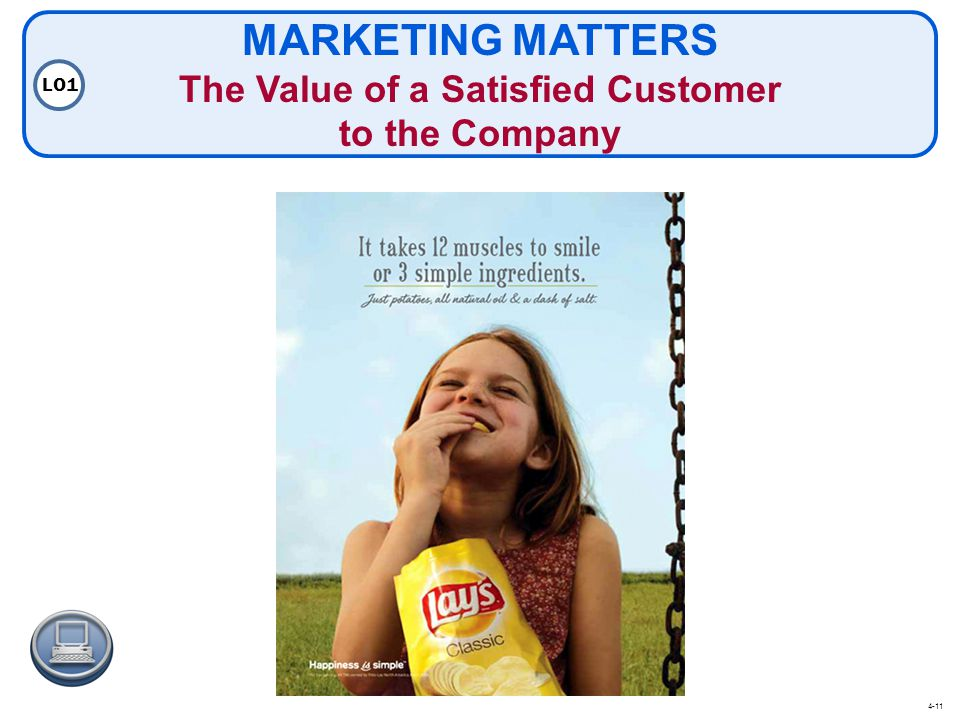 MARKETING MATTERS The Value of a Satisfied Customer to the Company