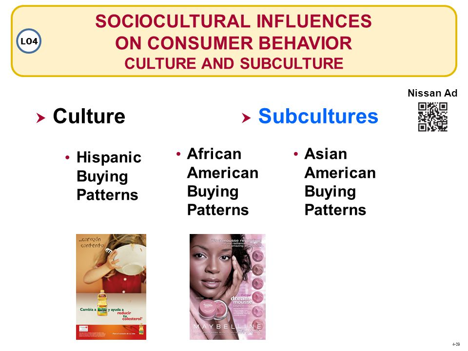 SOCIOCULTURAL INFLUENCES ON CONSUMER BEHAVIOR CULTURE AND SUBCULTURE