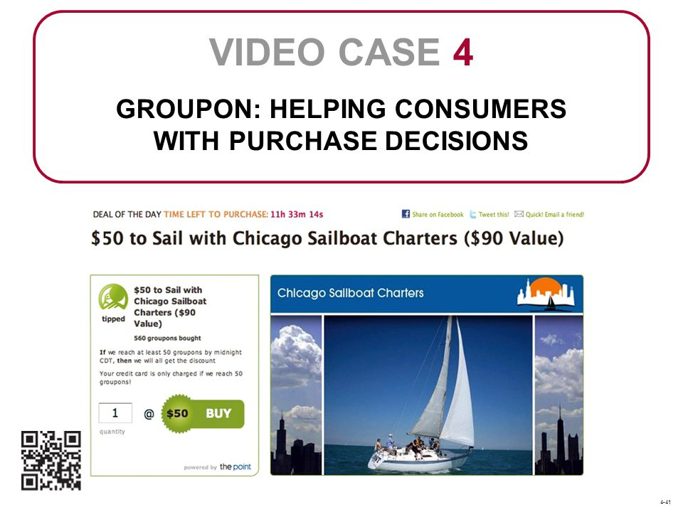 GROUPON: HELPING CONSUMERS WITH PURCHASE DECISIONS