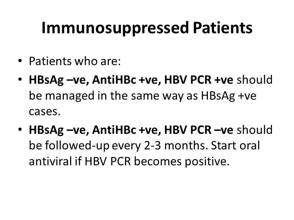 Immunosuppressed Patients