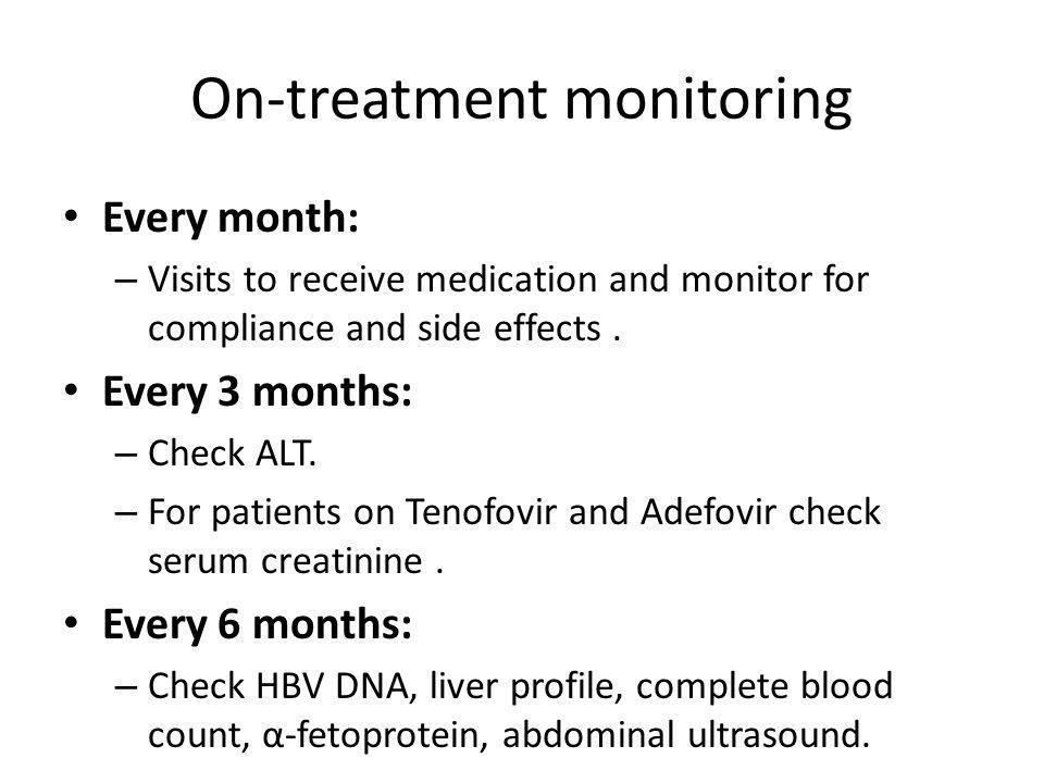 On-treatment monitoring