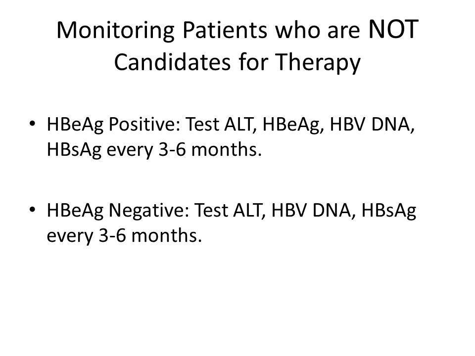 Monitoring Patients who are NOT Candidates for Therapy