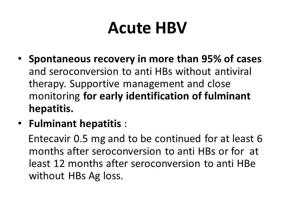 Acute HBV