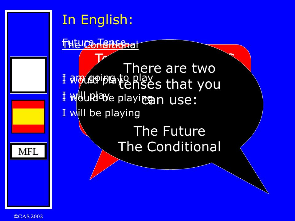 There are two tenses that you can use: