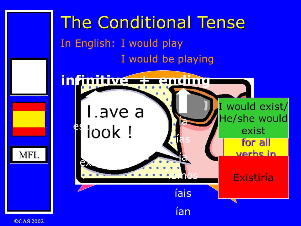 The Conditional Tense infinitive
