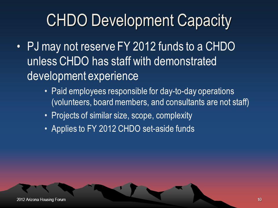 CHDO Development Capacity