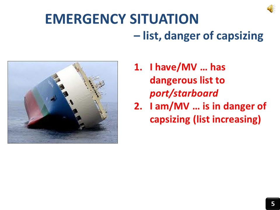 – list, danger of capsizing
