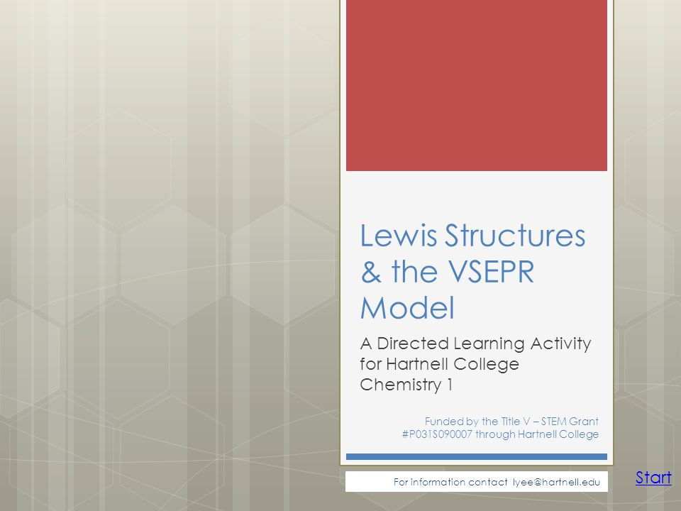 Lewis Structures & the VSEPR Model
