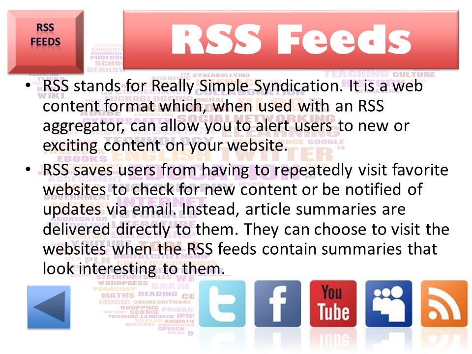 RSS Feeds. RSS Feeds.