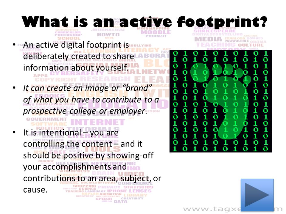 What is an active footprint