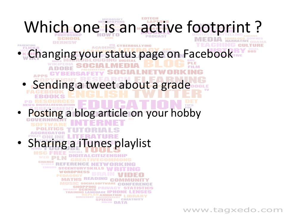 Which one is an active footprint