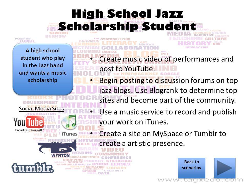 High School Jazz Scholarship Student