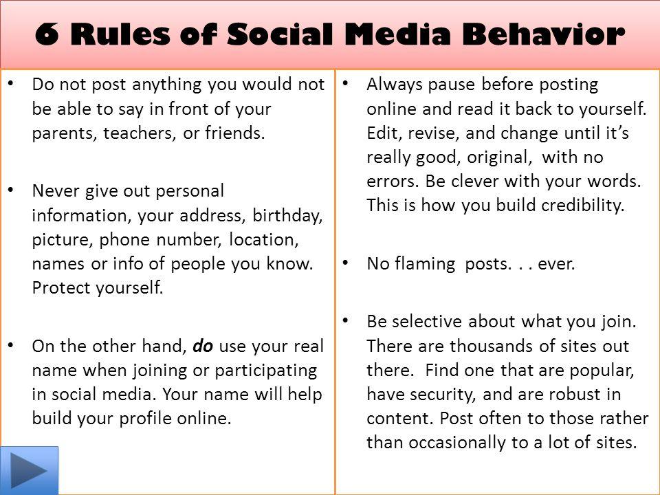 6 Rules of Social Media Behavior