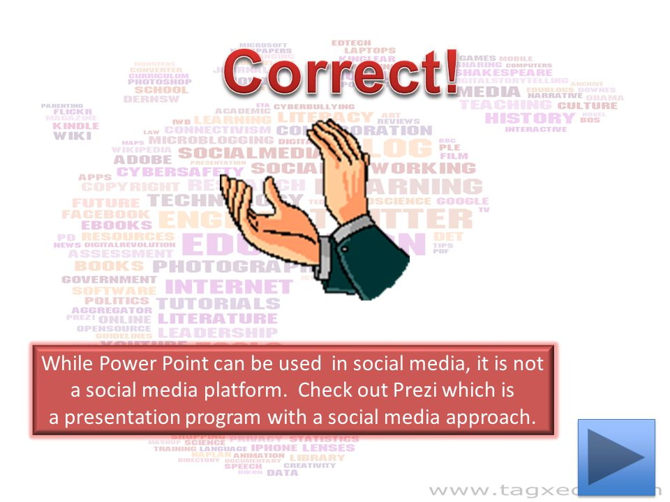 a presentation program with a social media approach.