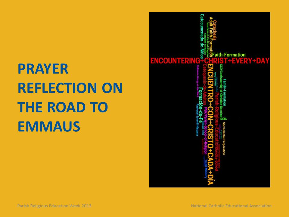 Prayer Reflection on the Road to Emmaus
