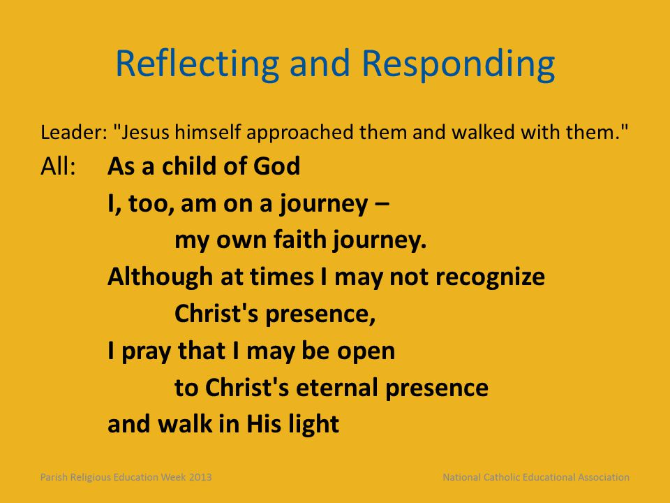Reflecting and Responding