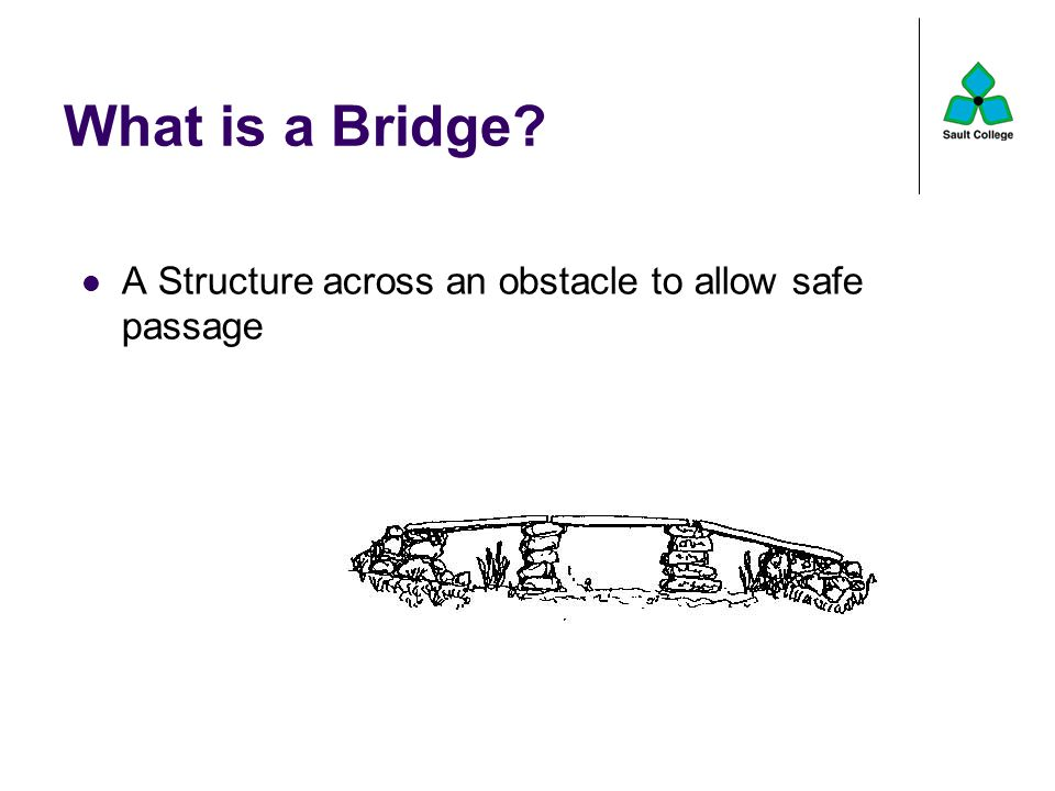 What is a Bridge A Structure across an obstacle to allow safe passage