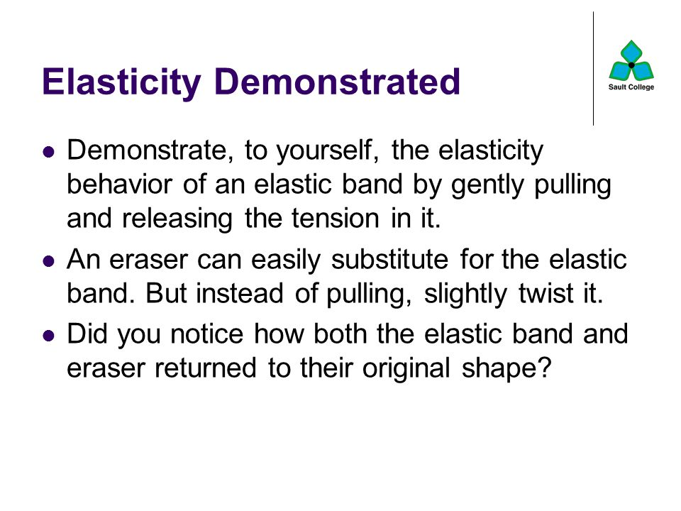 Elasticity Demonstrated