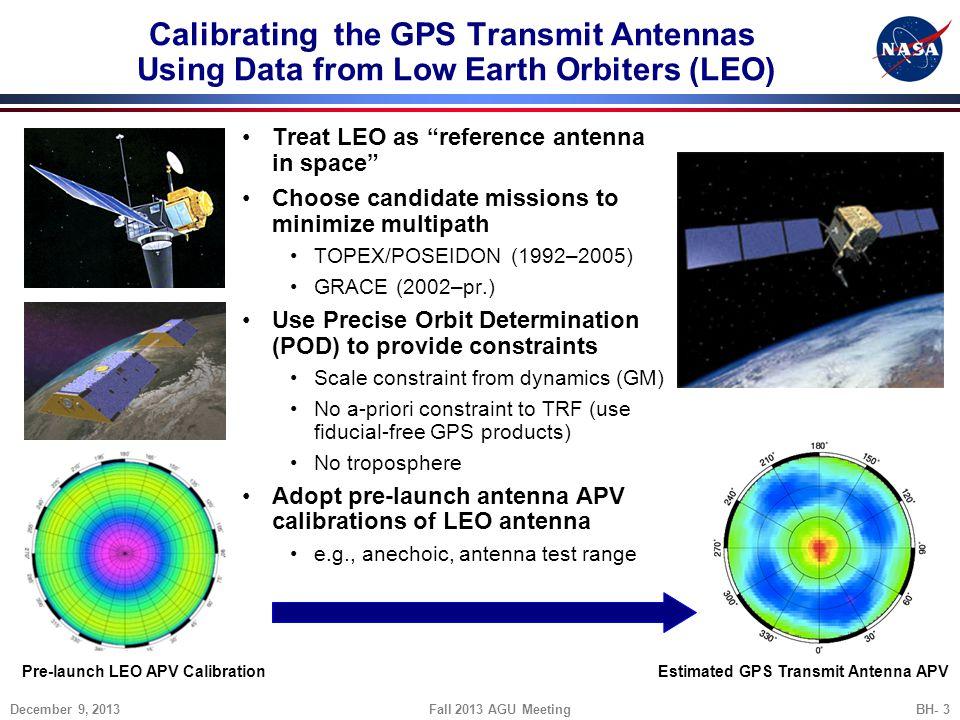 Pre-launch LEO APV Calibration Estimated GPS Transmit Antenna APV