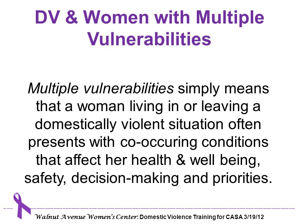 DV & Women with Multiple Vulnerabilities