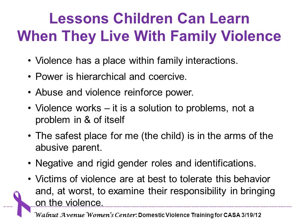 Lessons Children Can Learn When They Live With Family Violence