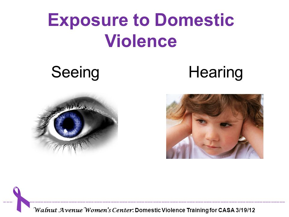 Exposure to Domestic Violence