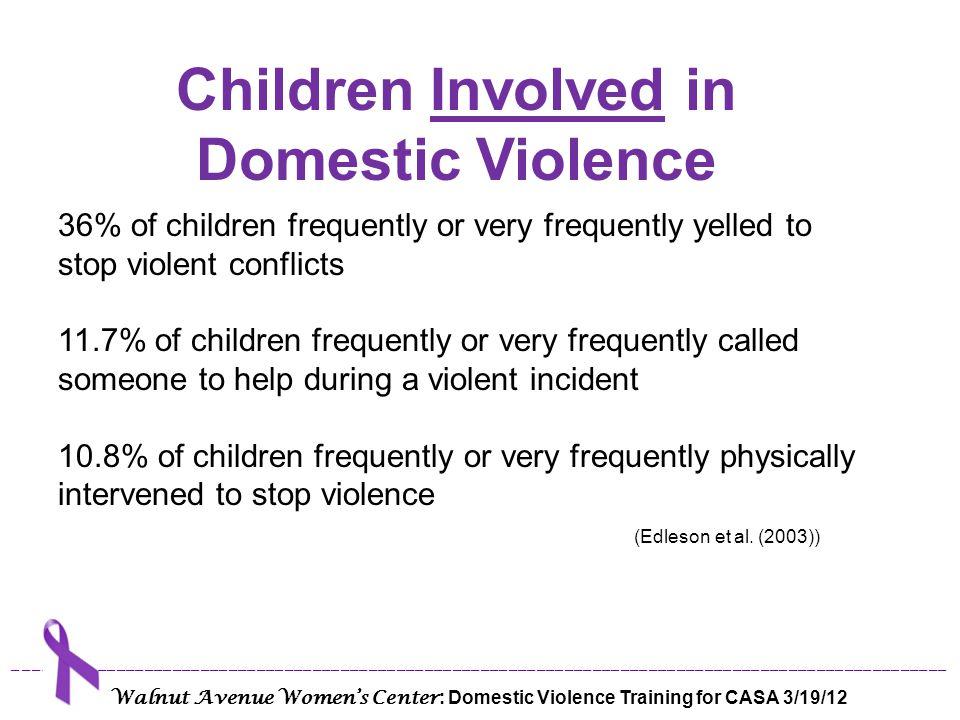 Children Involved in Domestic Violence