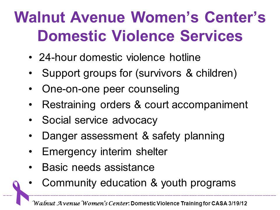 Walnut Avenue Women's Center's Domestic Violence Services