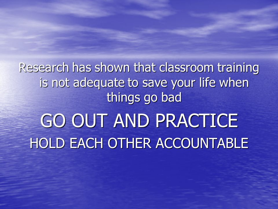 HOLD EACH OTHER ACCOUNTABLE