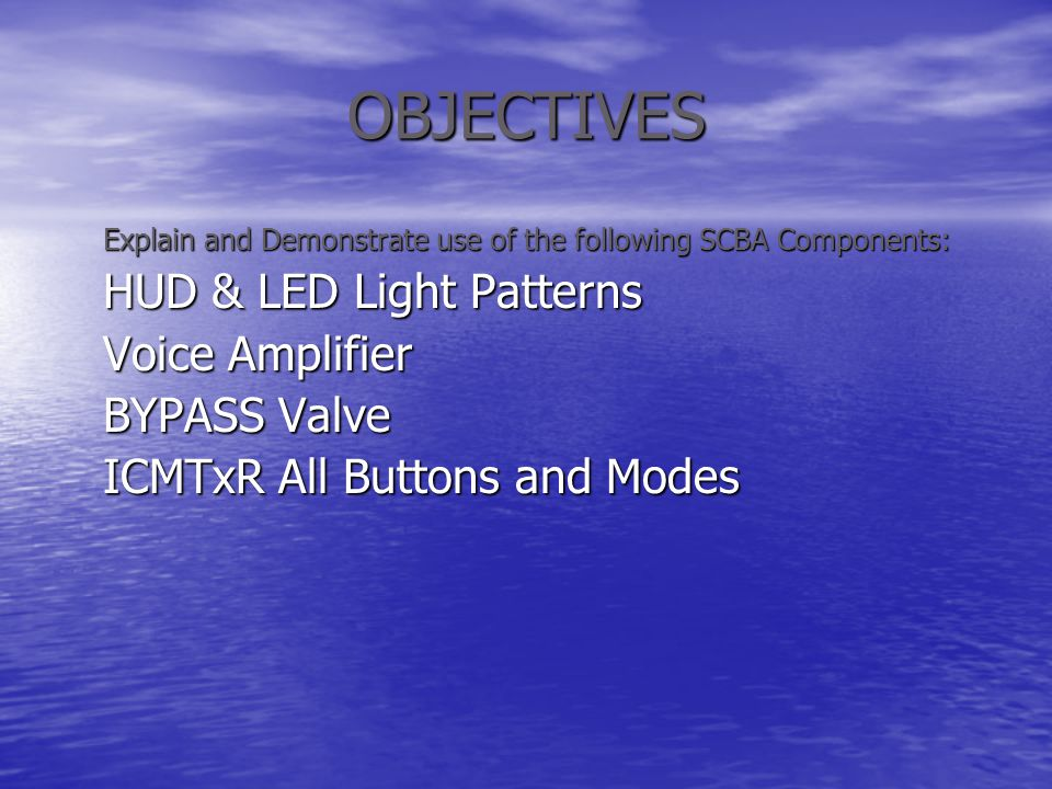 OBJECTIVES HUD & LED Light Patterns Voice Amplifier BYPASS Valve