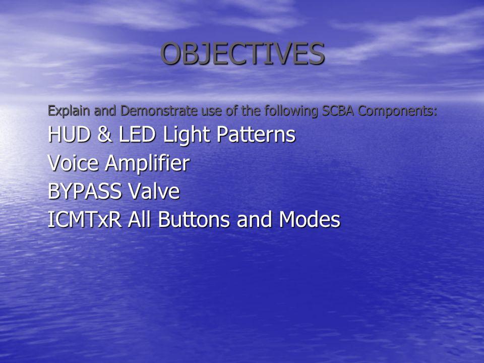 OBJECTIVES HUD & LED Light Patterns Voice Amplifier BYPASS Valve