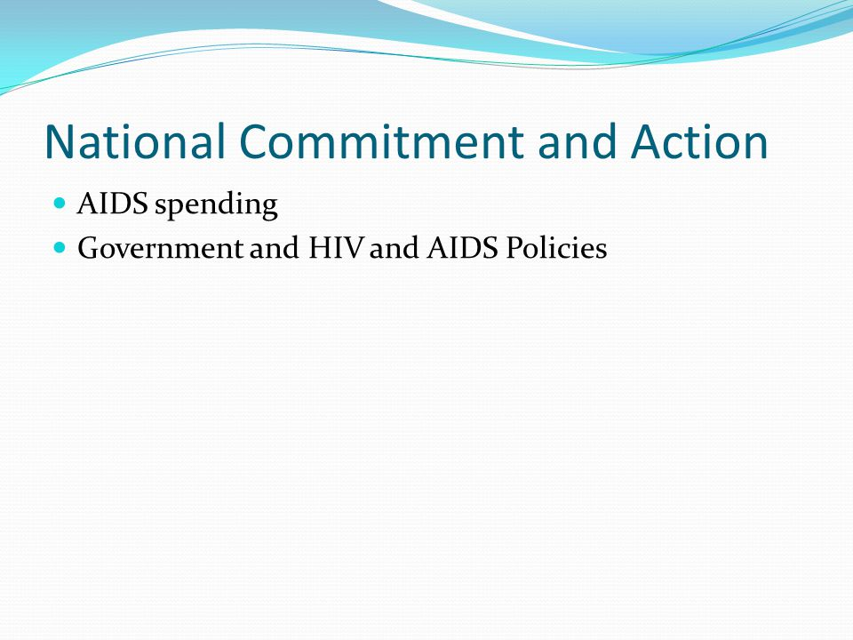 National Commitment and Action