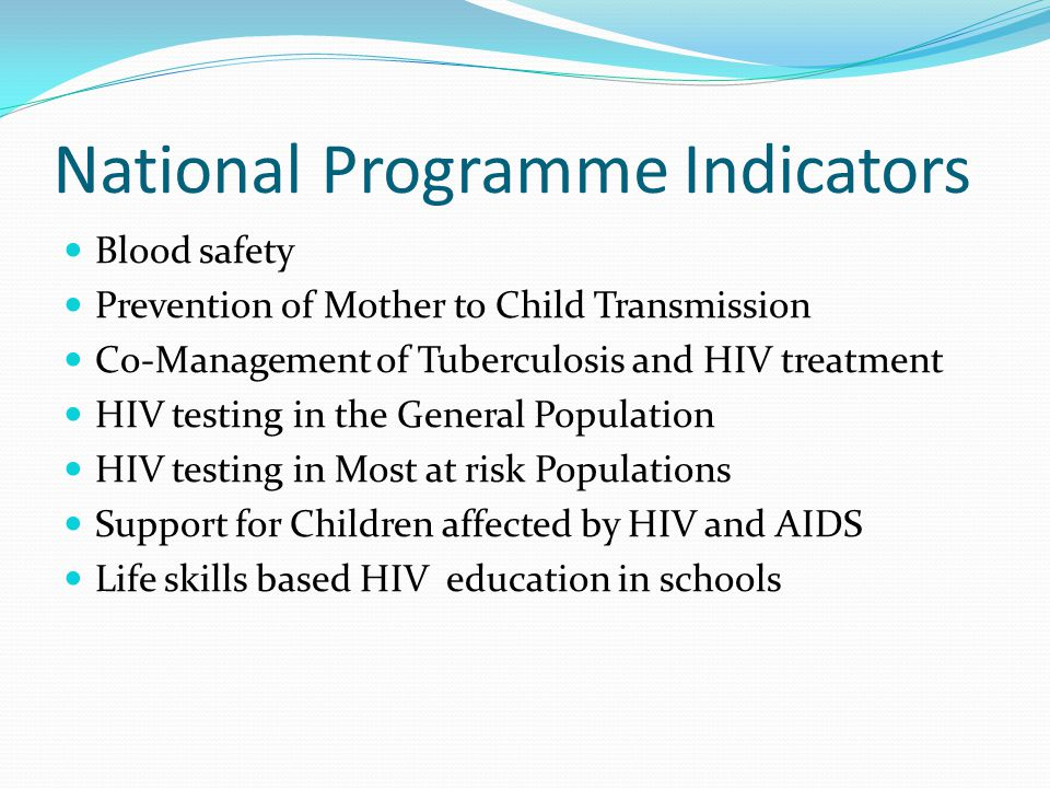 National Programme Indicators