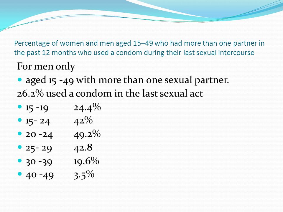 aged 15 -49 with more than one sexual partner.