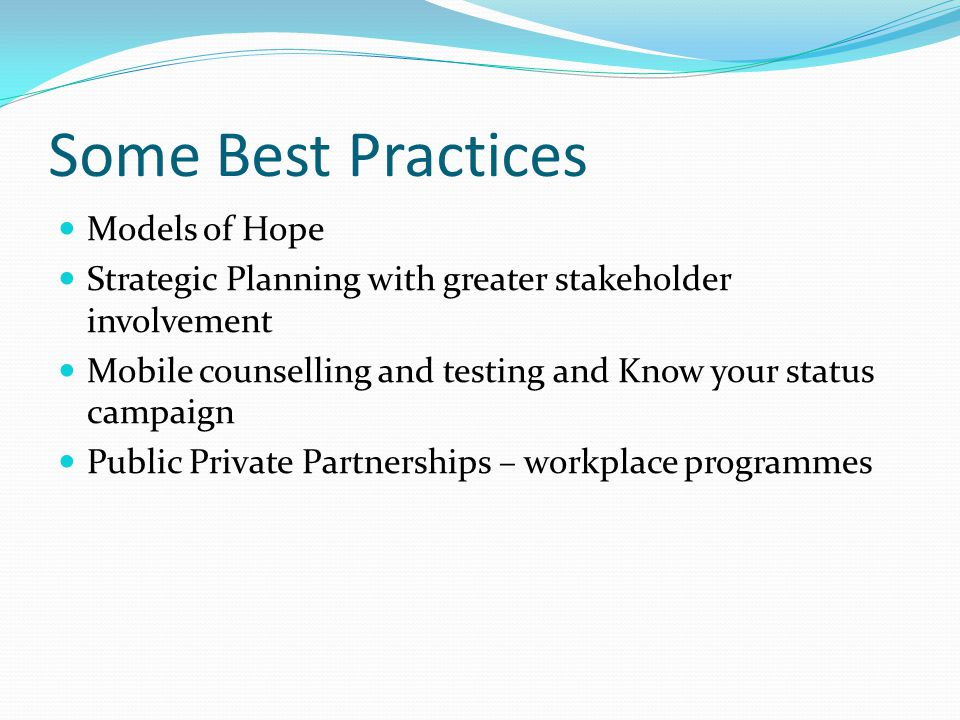Some Best Practices Models of Hope